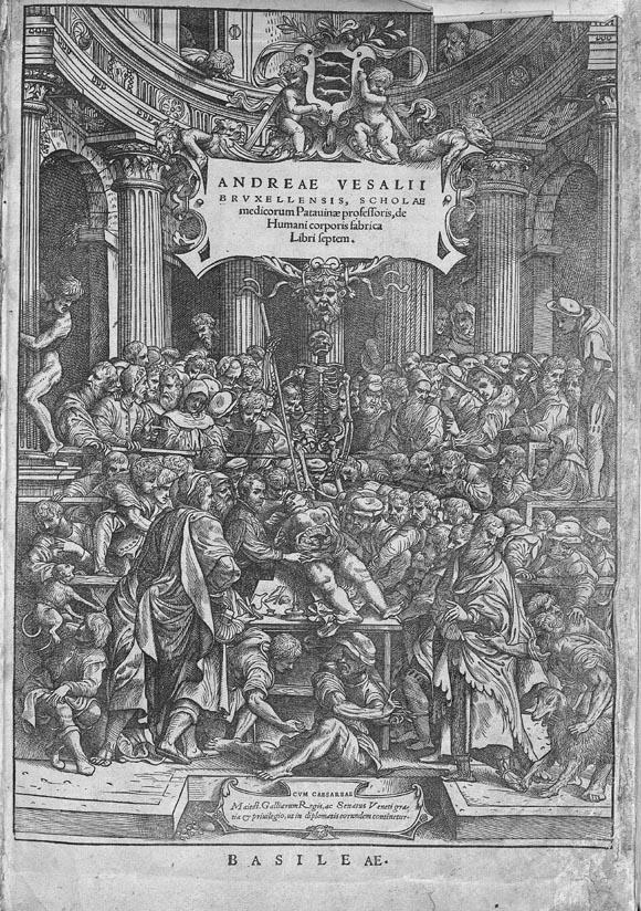 Vesalius. De humani corporis fabrica. Titre